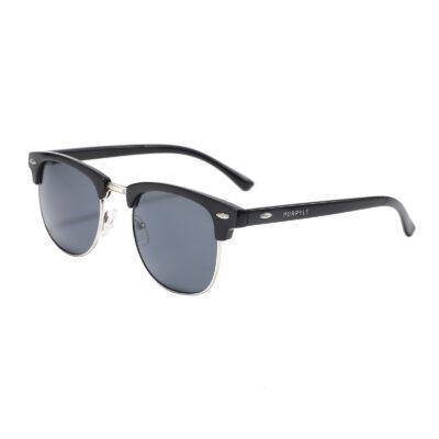 Fulton St 1608-1 Clubmaster Sunglasses Tinted Black
