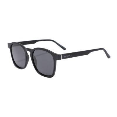 Albany 1681-1 Classic Square Polarized Tinted Sunglasses Black