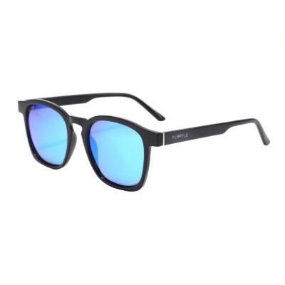 Albany 1681M-4 Classic Square Polarized Mirrored Sunglasses Blue