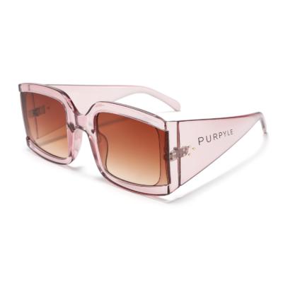 Miramar 1952-3 Square Tinted Sunglasses Brown Gradient