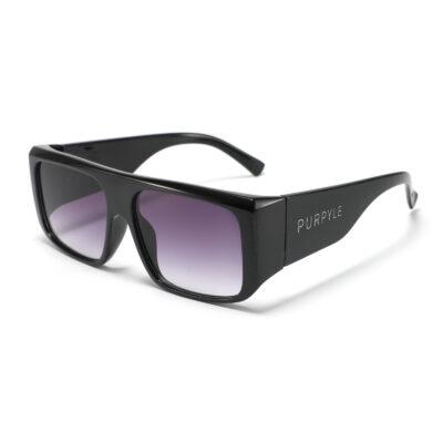 B. Raton 1955-1 Rectangular Polarized Tinted Sunglasses Purple