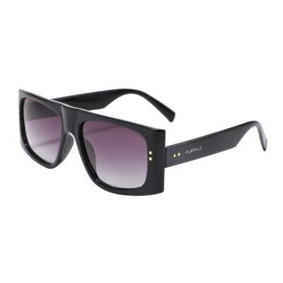 Kendall 1959-1 Rectangular Polarized Tinted Sunglasses Purple