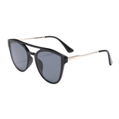 Diana 2133-1 Oversized Cat Eye Tinted Sunglasses Black