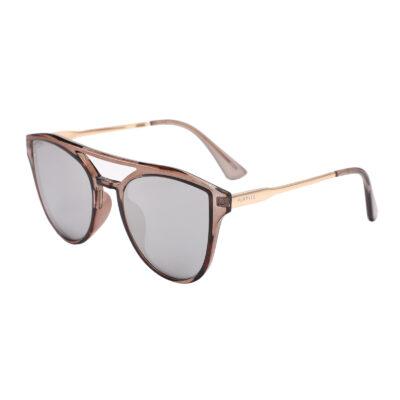 Diana 2133M-2 Oversized Cat Eye Mirrored Sunglasses Gray