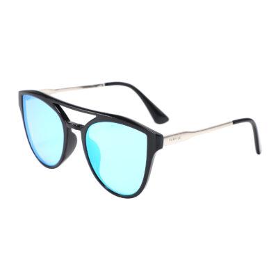 Diana 2133M-4 Oversized Cat Eye Mirrored Reflective Sunglasses Blue