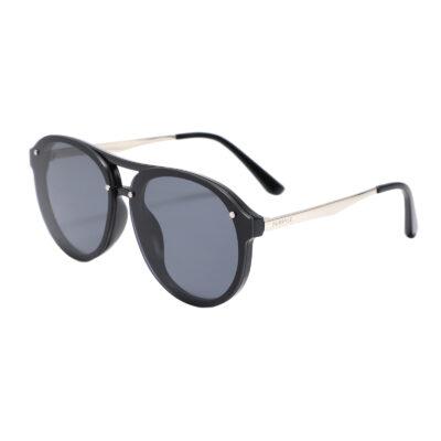 Industry 2134-1 Double Bridge Aviator Tinted Sunglasses Black
