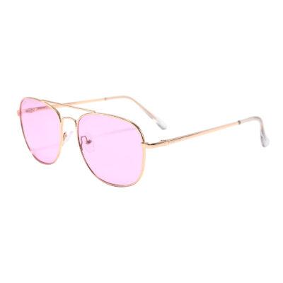 Bleecker St 3465-7 Aviator Tinted Sunglasses Pink