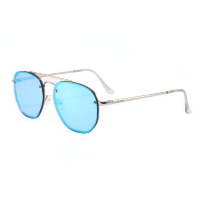 Bleecker St 3645M-4 Aviator Mirrored Reflective Sunglasses Blue