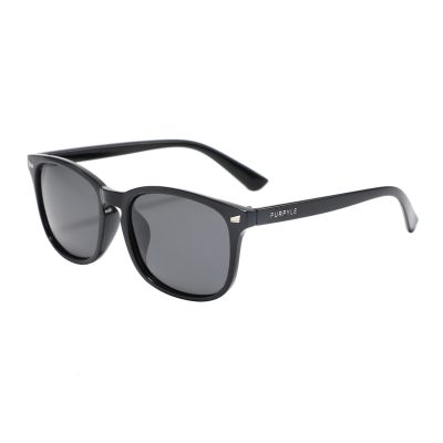 Clermont 4375-1 WFR Classic Polarized Tinted Sunglasses Black