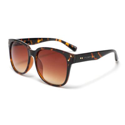 Venus 4378-2 Classic Polarized Tinted Sunglasses Tortoise Brown