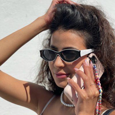 Sunrise 20823-1 Women's Oval Tinted Sunglasses Black