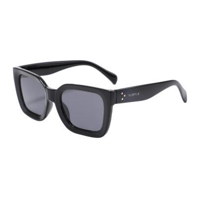 Margate LS6937-1 Square Polarized Tinted Sunglasses Black