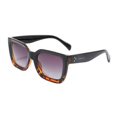 Margate LS6937-8 Square Polarized Tinted Sunglasses Tortoise Brown