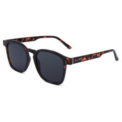 Albany 1681-7 Classic Square Polarized Tinted Sunglasses Tortoise Black