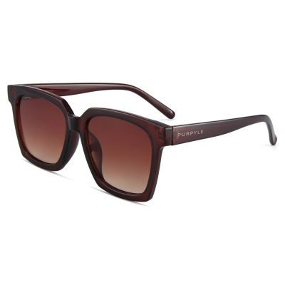 Paige 1683-2 Oversized Square Polarized Tinted Sunglasses Brown