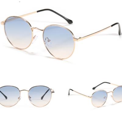 Bowery 9107-1 Round Tinted Sunglasses Blue Gradient