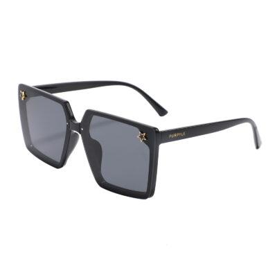 Paris 201115-1 Square Oversized Tinted Sunglasses Black