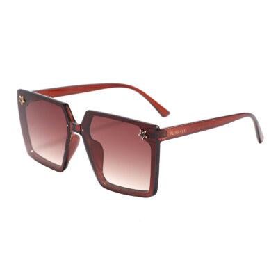 Paris 201115-4 Square Oversized Tinted Sunglasses Brown