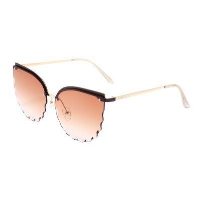 Park Ave S3013-2 Butterfly Tinted Sunglasses Brown