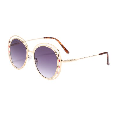 Fifth Ave S3014-1 Round Tinted Sunglasses Purple Gradient