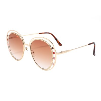 Fifth Ave S3014-2 Round Tinted Sunglasses Brown Gradient