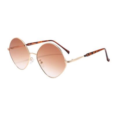 Princeton S3015-2 Round Tinted Sunglasses Brown Gradient