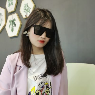 Broadway 4371-1 Rectangular Tinted Sunglasses Black