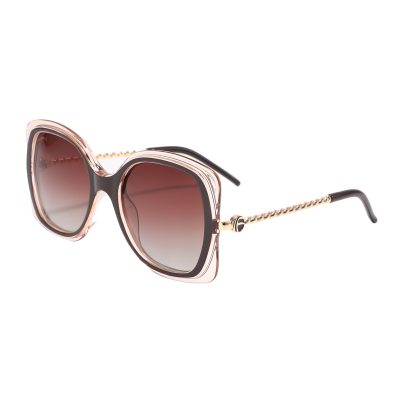 London 95229-3 Square Butterfly Tinted Sunglasses Brown