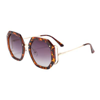 Victory Blvd 95234-2 Octagon Tinted Sunglasses Tortoise Black Gradient