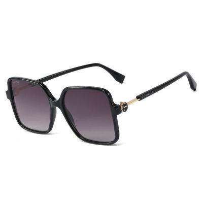 Milan 95261-1 Oversized Square Polarized Tinted Sunglasses Black