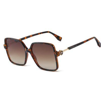 Milan 95261-2 Oversized Square Polarized Tinted Sunglasses Tortoise Brown