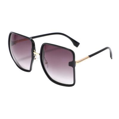 London 95262-1 Oversized Square Tinted Sunglasses Black Gradient